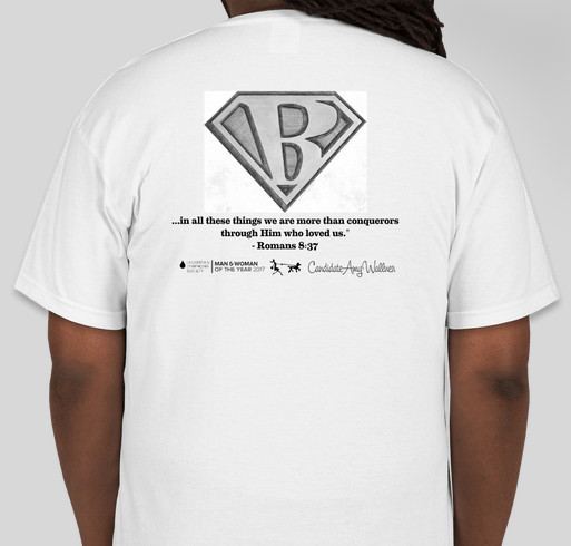 Leukemia and Lymphoma Society Battle 4 Bailee Fundraiser - unisex shirt design - back