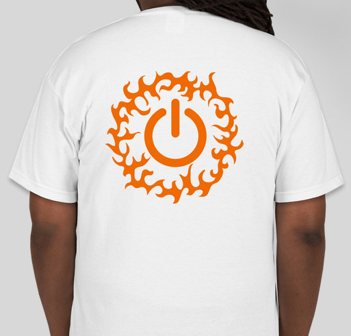 A digital campaign bought to you by the children of F.I.R.E. The technology workshop of the future Fundraiser - unisex shirt design - back