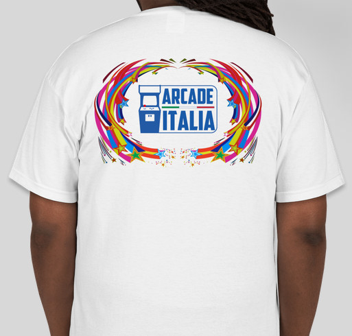 ARCADE ITALIA the forum official T-SHIRT Fundraiser - unisex shirt design - back