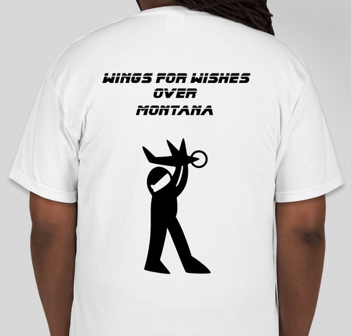 Wings For Wishes Fundraiser - unisex shirt design - back