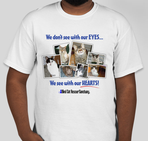 We See with our heart Fundraiser - unisex shirt design - front