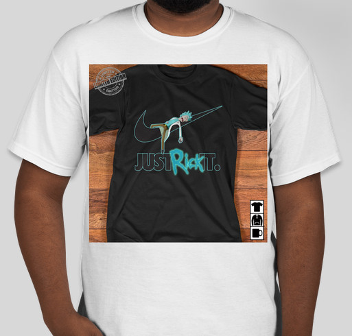b0a91978ed9356 Just Rick it shirt and hoodie Fundraiser - unisex shirt design - front