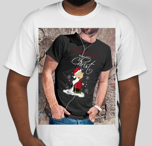 snoopy and charlie christmas begins with christ shirt fundraiser unisex shirt design front
