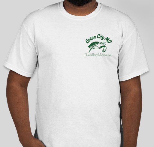 Ocean City MD, the Cleanest Beach In America Fundraiser - unisex shirt design - front