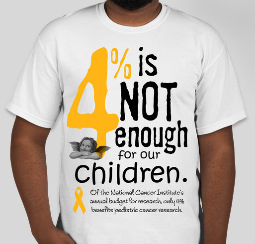 Four Percent is NOT Enough for our Children! Fundraiser - unisex shirt design - front