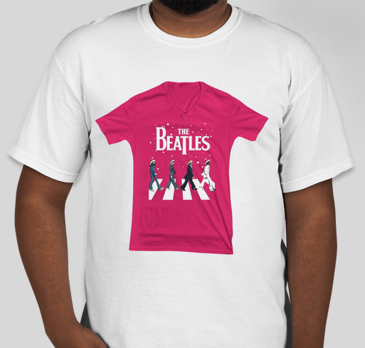 Christmas The Beatles Abbey Road shirt Fundraiser - unisex shirt design - front