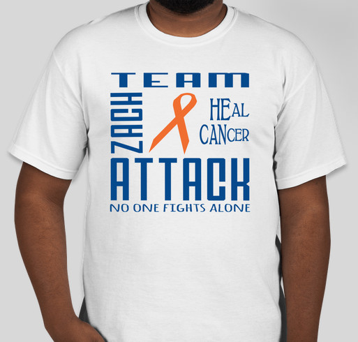 Team Zach Attack Fundraiser - unisex shirt design - front