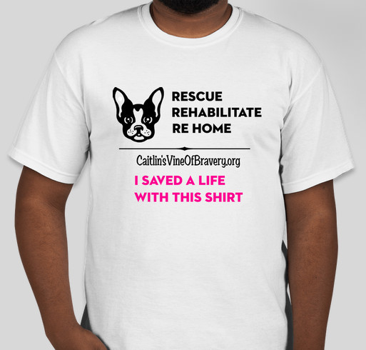 We rescue, rehabilitate & re home dogs that suffer from abuse, neglect, illnesses or special needs. Fundraiser - unisex shirt design - front