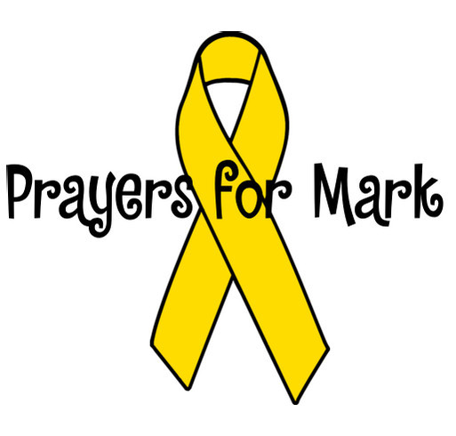 Prayers for Mark shirt design - zoomed