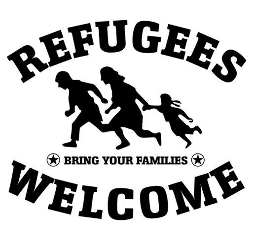 Refugees Welcome! shirt design - zoomed
