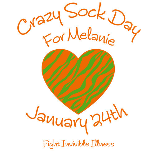 Crazy Sock Day for Melanie: January 24th shirt design - zoomed