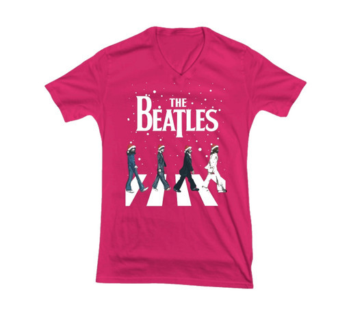 Christmas The Beatles Abbey Road shirt shirt design - zoomed