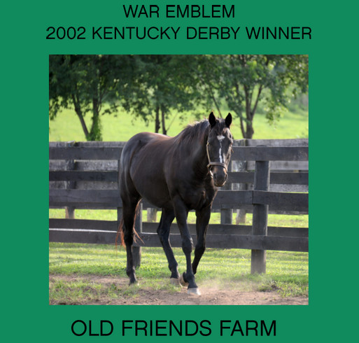 Old Friends Farm Fundraiser - War Emblem shirt design - zoomed