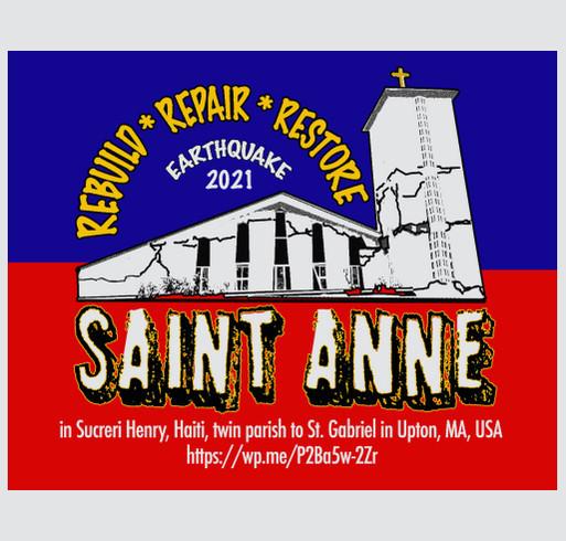St. Gabriel/St. Anne Haiti Earthquake Relief shirt design - zoomed