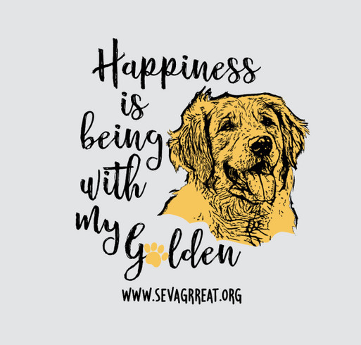 Happiness Is Being With My Golden shirt design - zoomed