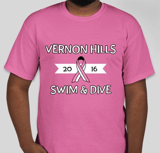 VHHS Power in Pink Fundraiser - unisex shirt design - front