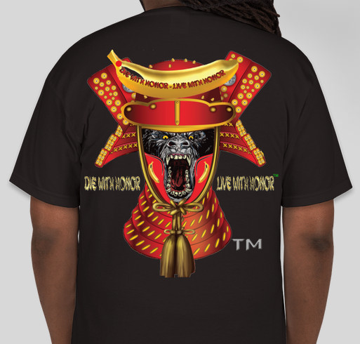 Funding For An Awesome Samurai Gorillas Toy Line Fundraiser - unisex shirt design - back