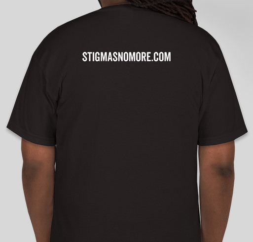 Stigmas No More Fundraiser - unisex shirt design - back