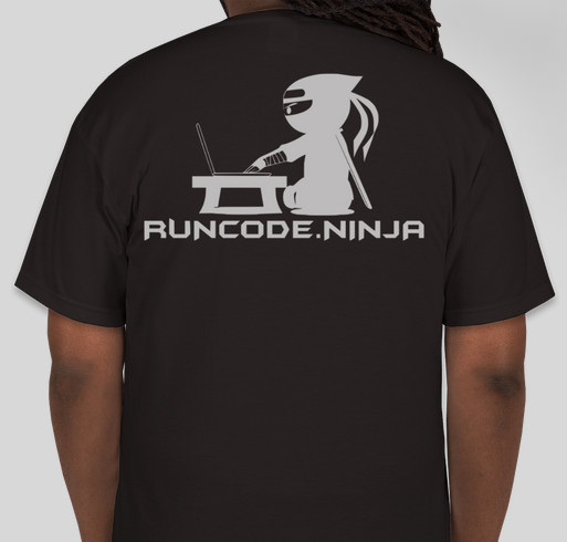 RunCode Annual Competition Fundraiser - unisex shirt design - back