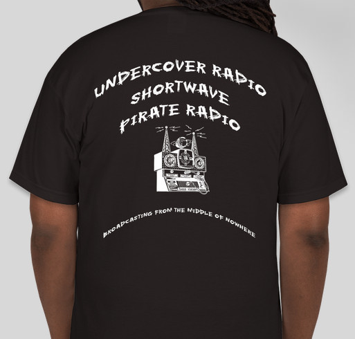 Official Undercover Radio t-shirt Fundraiser - unisex shirt design - small - back