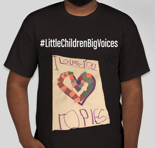 Little Children Big Voices Fundraiser - unisex shirt design - front