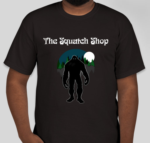 The Squatch Shop official Tshirts! Fundraiser - unisex shirt design - front