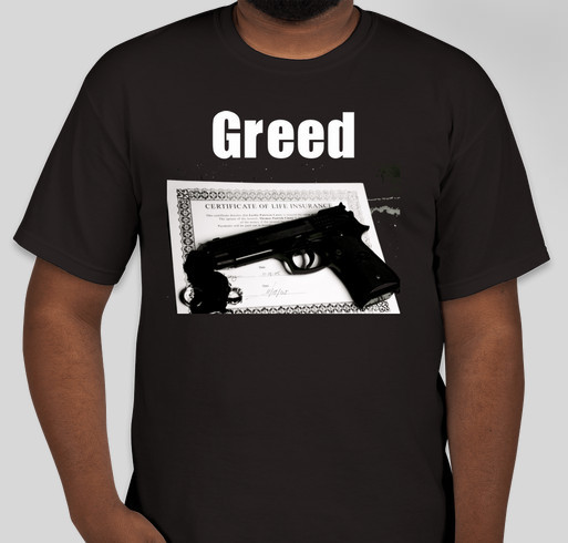 Greed film noir project custom ink fundraising for Film noir t shirts
