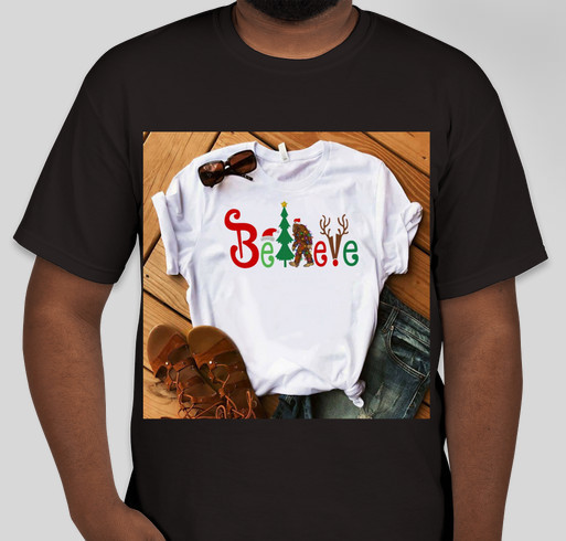 believe bigfoot santa christmas shirt fundraiser unisex shirt design front