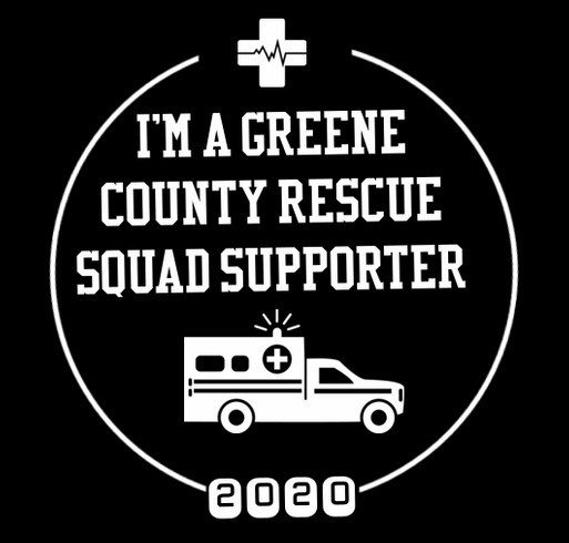 Greene County Rescue Squad shirt design - zoomed