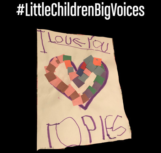 Little Children Big Voices shirt design - zoomed
