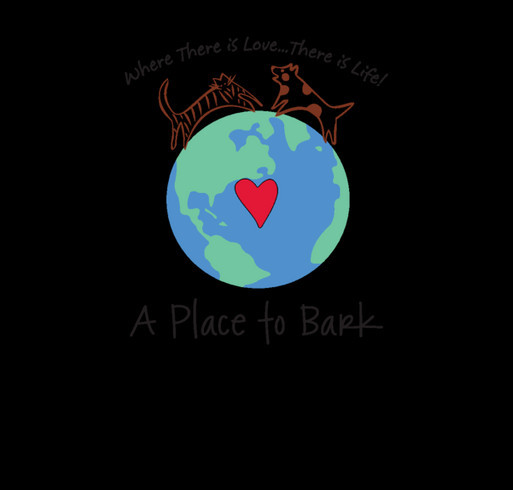 """A Place To Bark"" shirt design - zoomed"