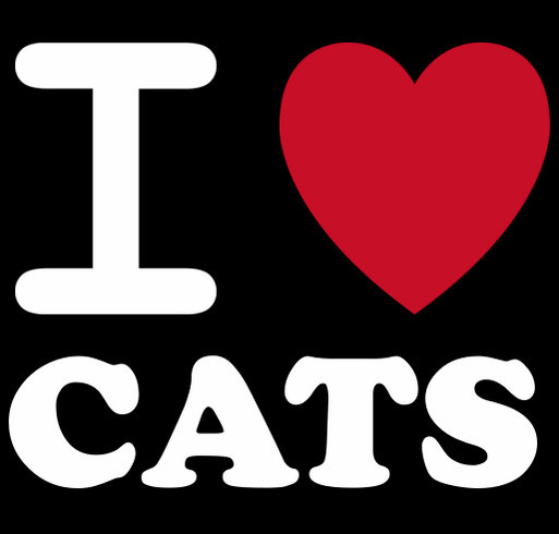 I love Cats! shirt design - zoomed