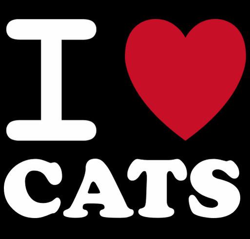 I love Cats! shirt design - zoomed