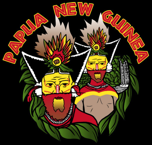 Papua New Guinea Islands Training Project shirt design - zoomed