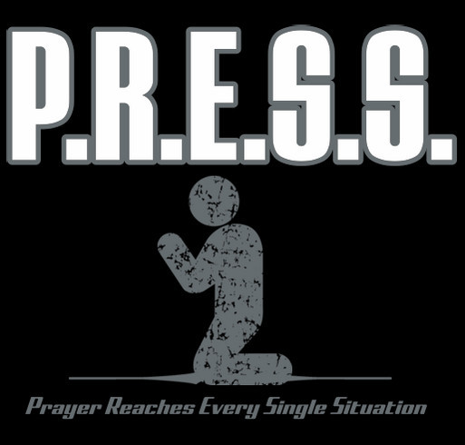 The P.R.E.S.S. Movement shirt design - zoomed