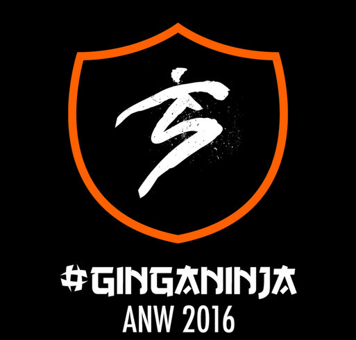 American Ninja Warrior 2016 GingaNinja T-shirts! shirt design - zoomed