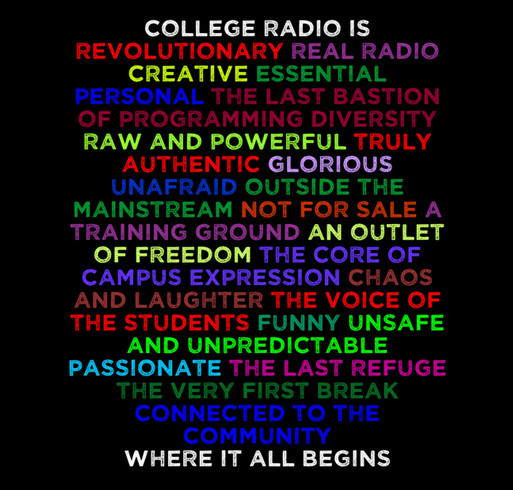 College Radio Day 2015 T-Shirt Campaign shirt design - zoomed
