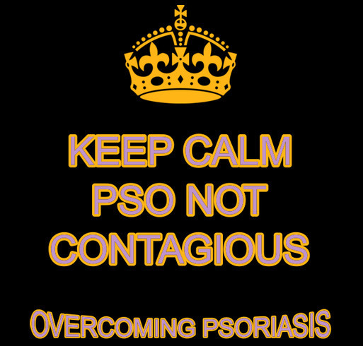 Overcoming Psoriasis shirt design - zoomed