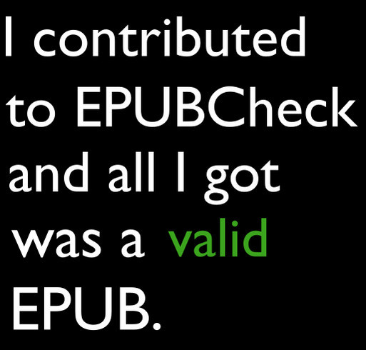 Support EPUBCheck! shirt design - zoomed