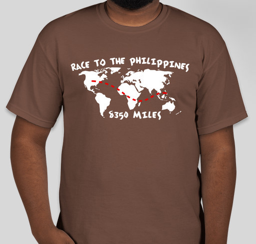 Race to the Philippines Fundraiser - unisex shirt design - front