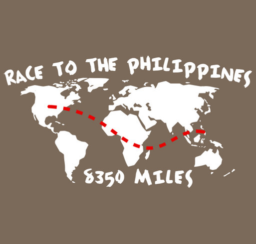 Race to the Philippines shirt design - zoomed