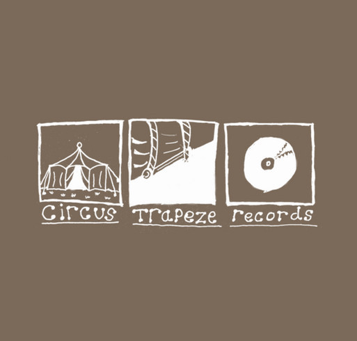 Circus Trapeze Records shirt design - zoomed