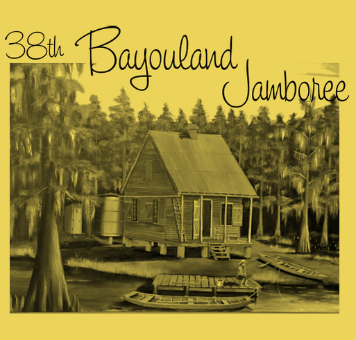 Bayouland Jamboree shirt design - zoomed