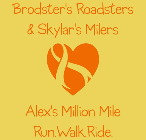Brodster's Roadsters & Skylar's Milers--Alex's Million Mile shirt design - zoomed