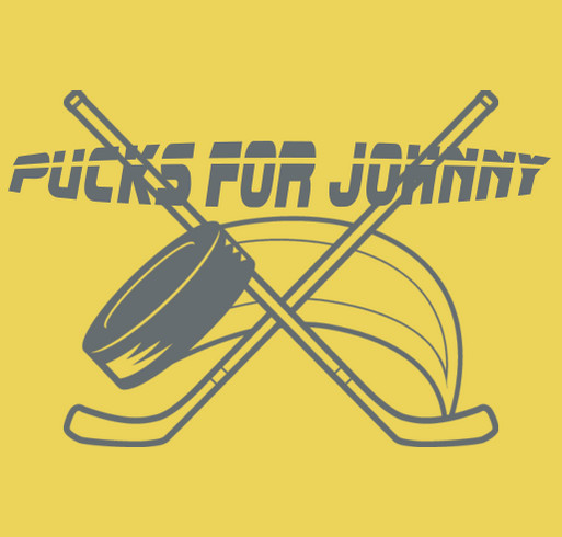 Pucks For Johnny shirt design - zoomed