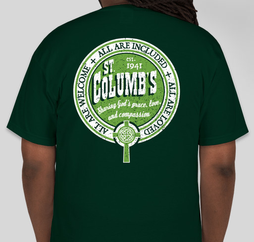 St. Columb's T-Shirts Fundraiser - unisex shirt design - back