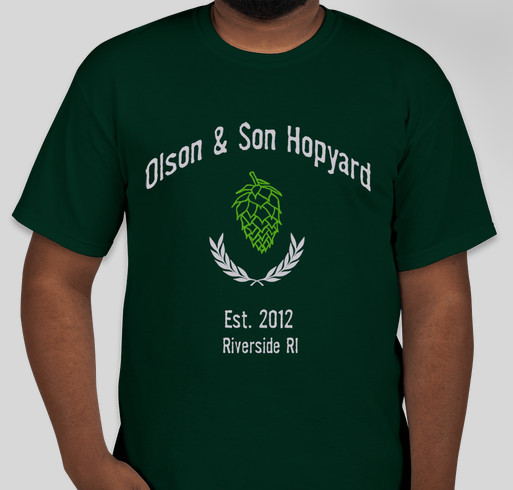 The Olson & Son Hopyard Limited Edition Tee Fundraiser - unisex shirt design - front