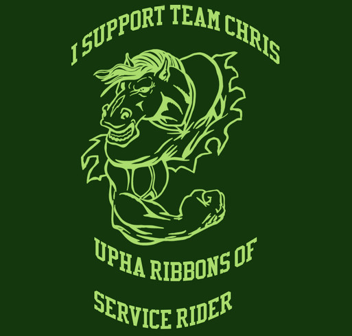 Support Team Chris shirt design - zoomed