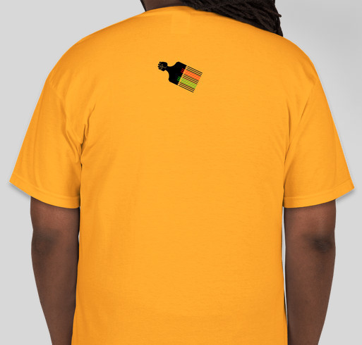 EBONIAN...BECAUSE BLACK IS JUST A COLOR! Fundraiser - unisex shirt design - back