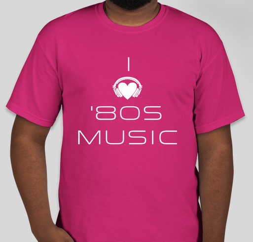 80s Mixed Online Radio Fundraiser Fundraiser - unisex shirt design - front